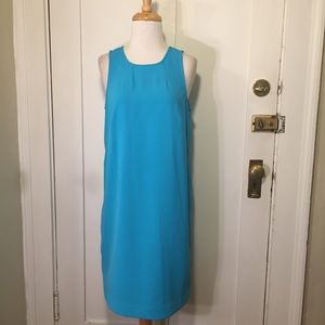 Ann Taylor bright Blue shift dress